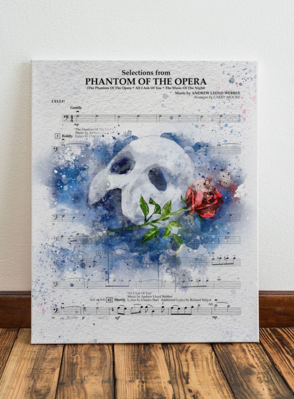 Phantom Of The Opera Sheet Music Art Print Phantom Of The Etsy Music Art Print Sheet Music Art Phantom Of The Opera