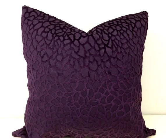 Purple Velvet Pillow Cover Throw Cushion