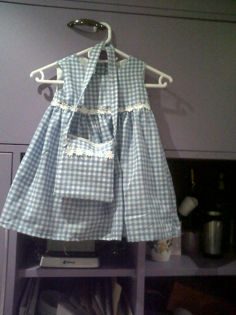Dress for Gracie which Estelle and Dean did not particularly like, they think gingham is old fashioned :o)