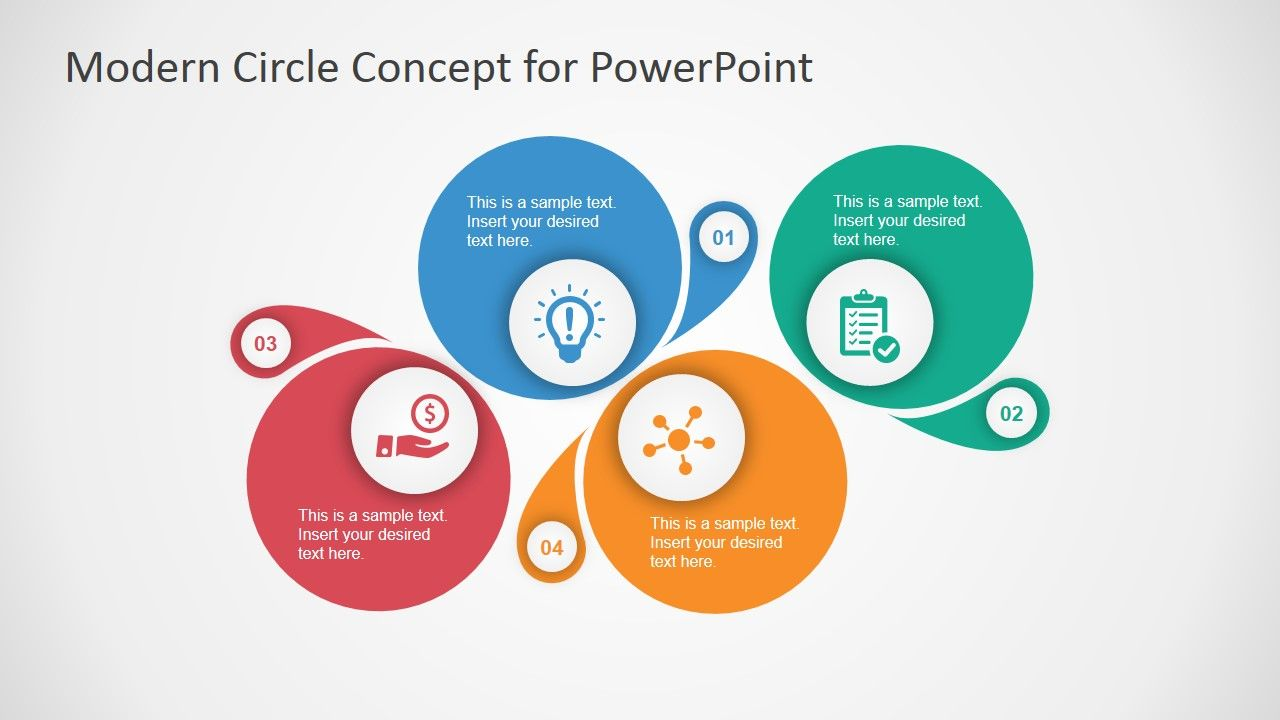 Modern Circle Concept Design For Powerpoint Slidemodel Concept Design Powerpoint Presentation Design