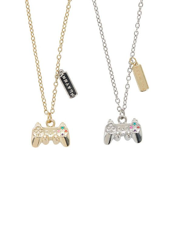 Playstation controller necklace lobster clasp gaming and closure playstation controller necklace aloadofball Choice Image