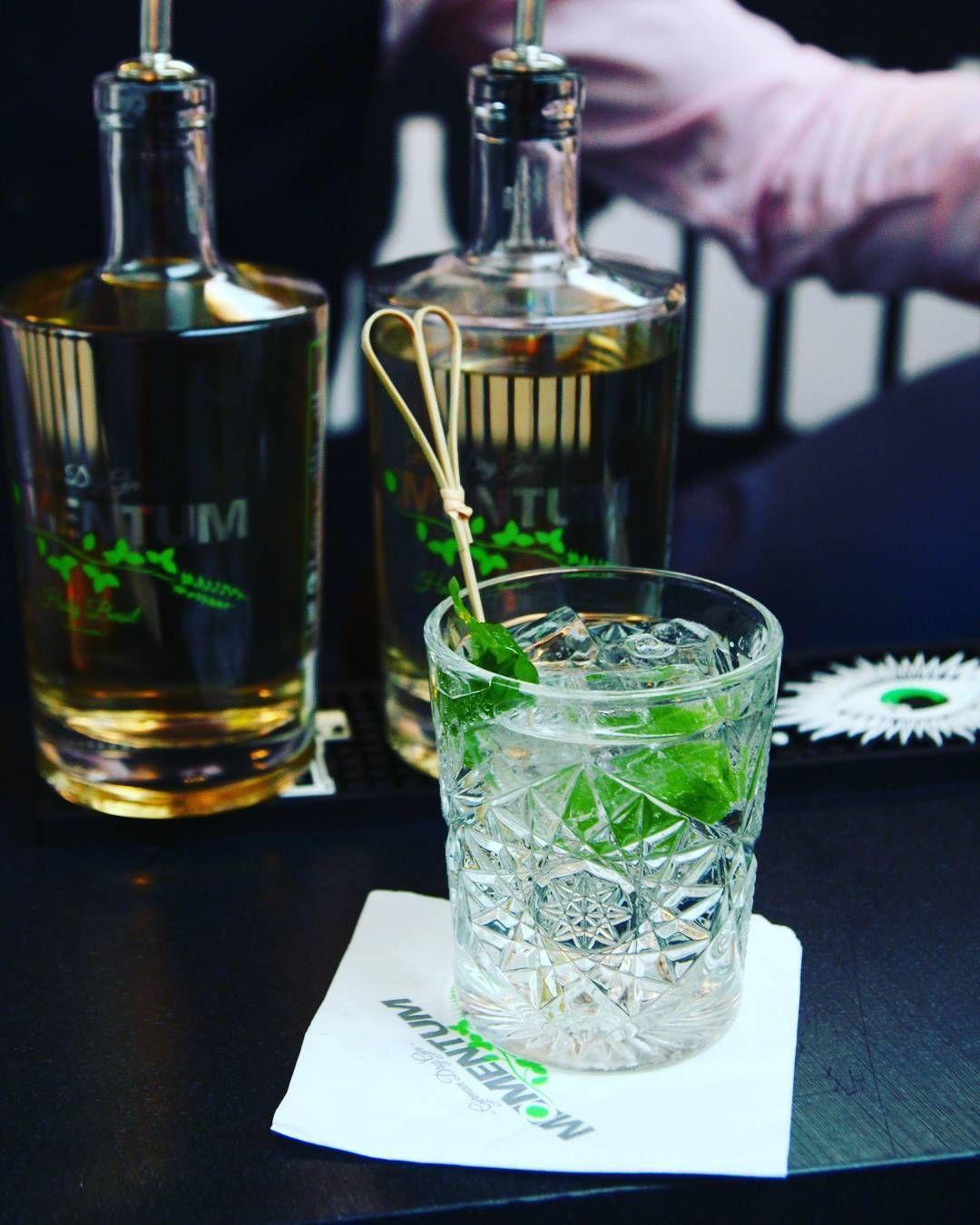 unser drink zum wochenende gin tonic mit einem neuen basilikum gin aus m nchen momentum gin. Black Bedroom Furniture Sets. Home Design Ideas