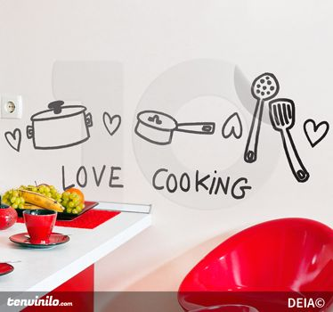Vinilo decorativo amo cocinar vinilos decorativos pinterest ideas para wallpaper stickers - Ideas para cocinar ...