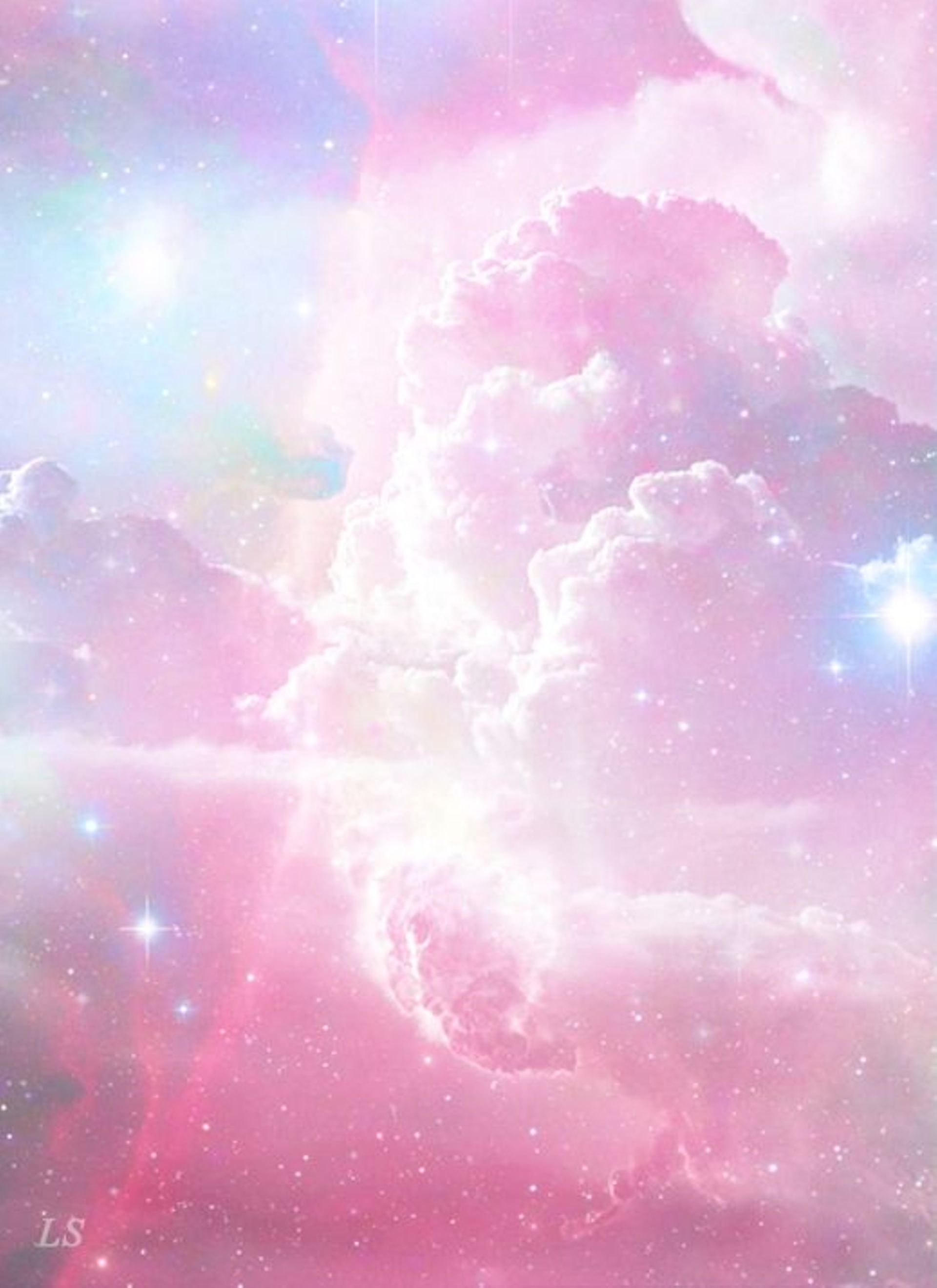 Galaxy Background Pastel