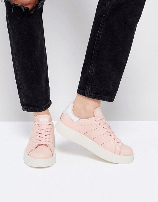 adidas Originals Pale Pink Stan Smith Bold Sole Sole Bold Sneaker Adidas c87385