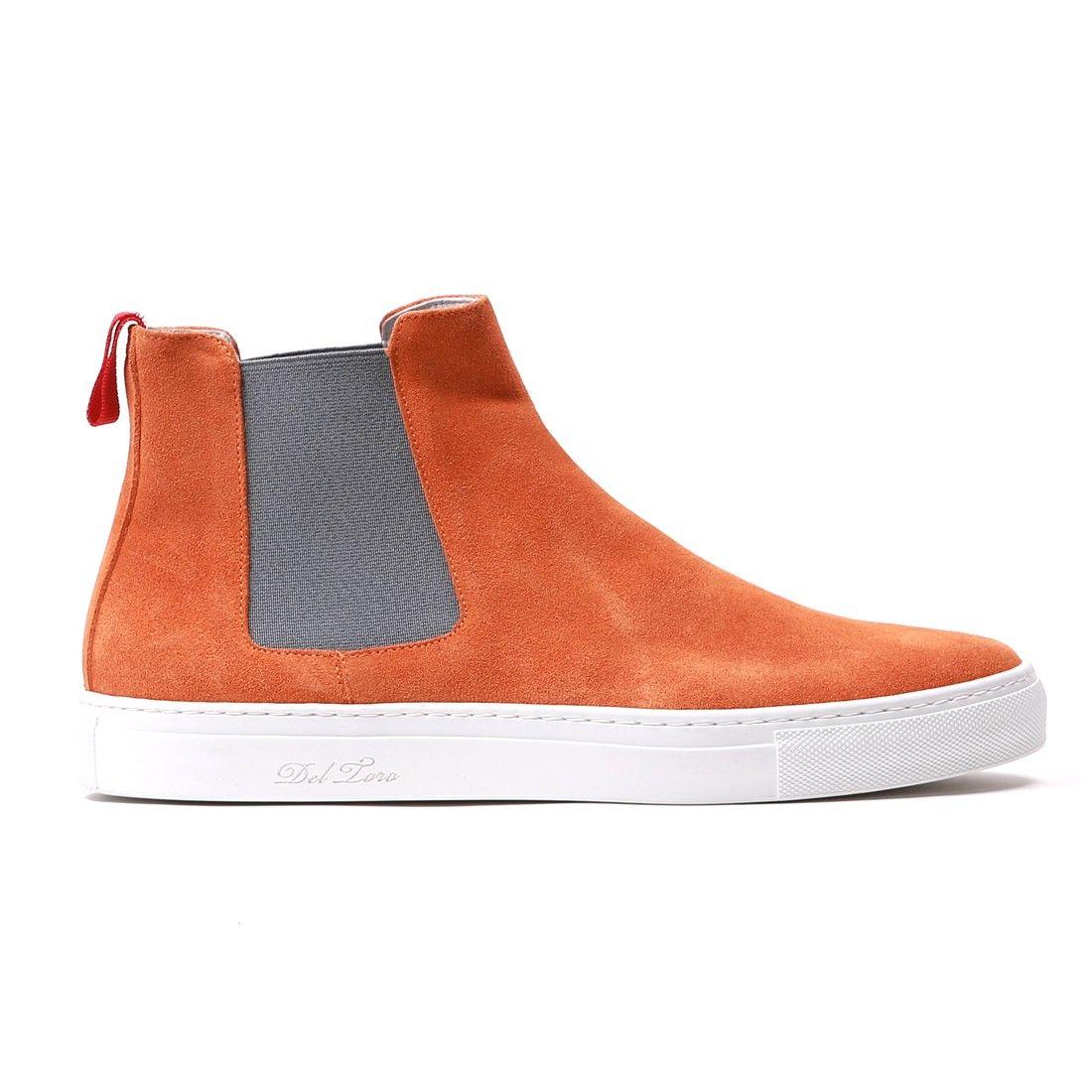 DEL TORO. Suede Chelsea BootsSneakerOrangeMenSlippersSneakersPlimsoll ...
