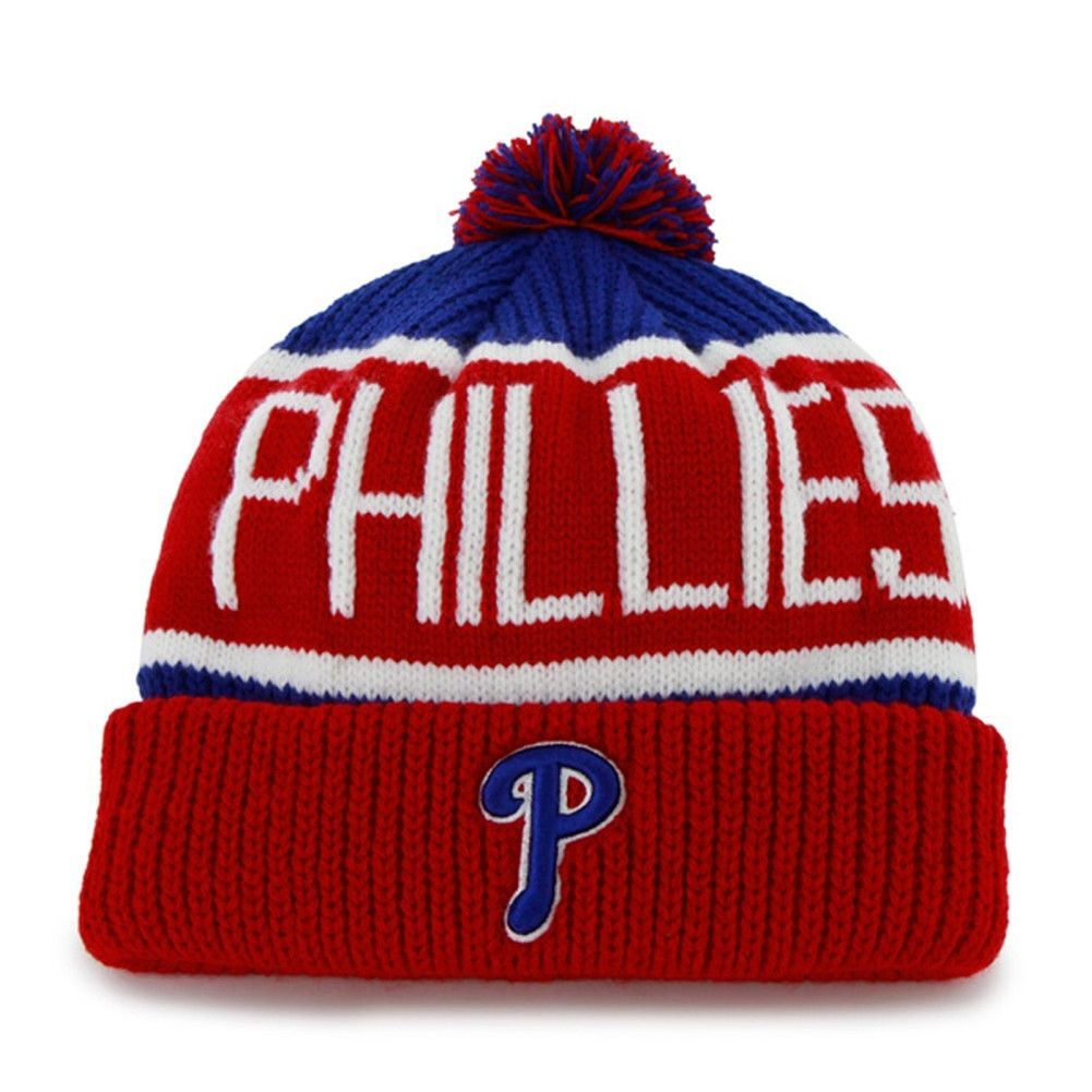 02ddfb62d Philadelphia Phillies - Logo Calgary Red and Blue Pom Pom Beanie ...