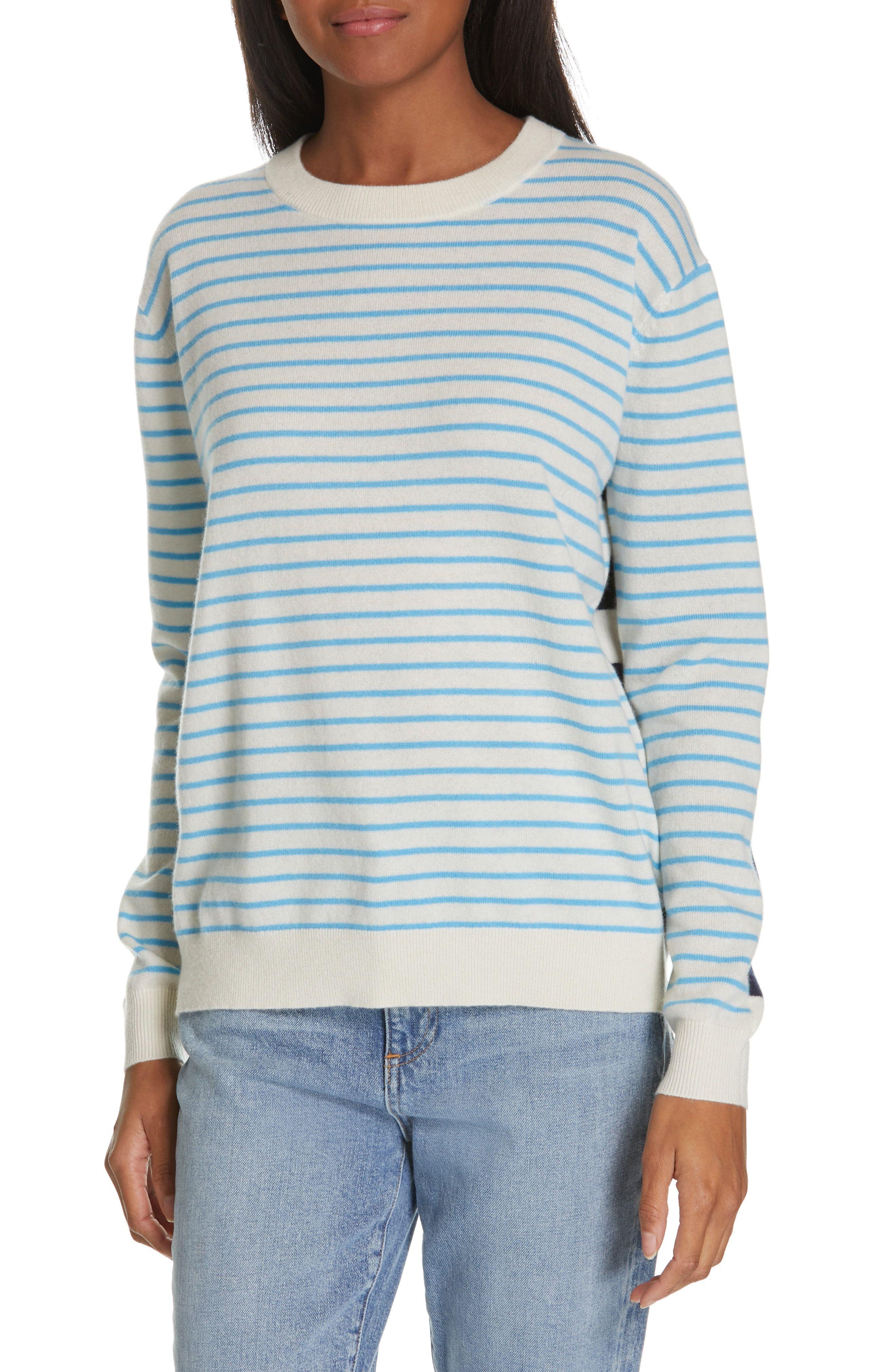 1e83526cb Women's Nordstrom Signature Multi Stripe Cashmere Sweater, Size X-Small -  Ivory