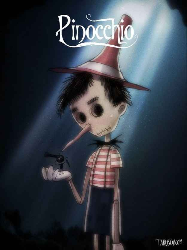 If Disney Movies Were Directed By Tim Burton Pinocchio And Jiminy
