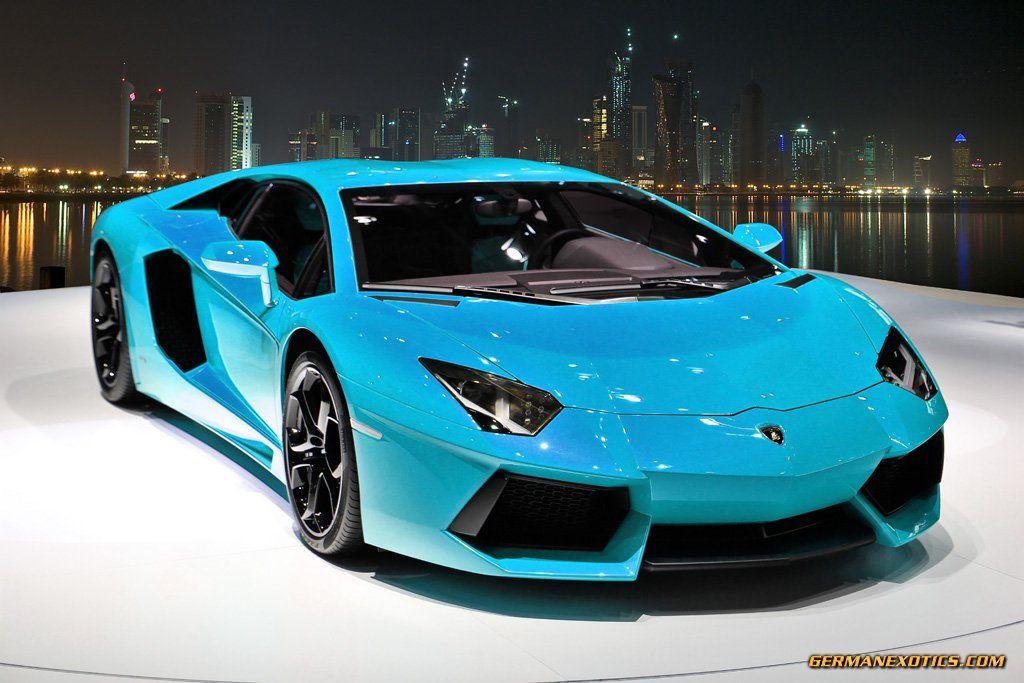 Turquoise Aventador Blue