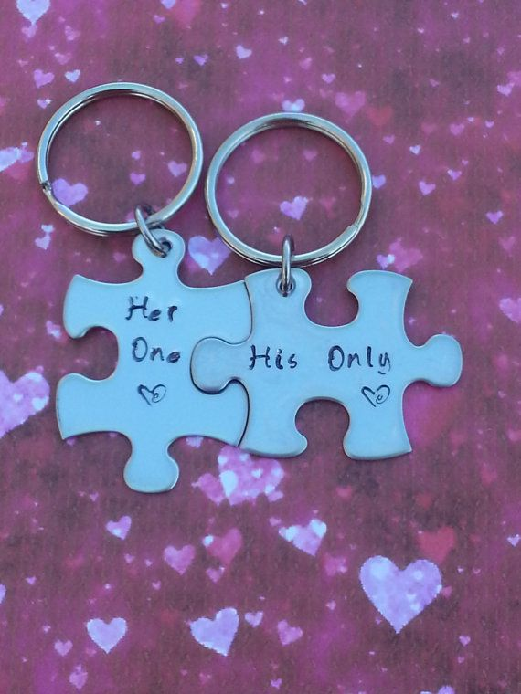 Valentine S Day Gift His And Her Puzzle Piece Keychain Set Along With Several Other Valentine Ideas Etsy In Valentines Boyfriend Gifts Cute Wedding Ideas