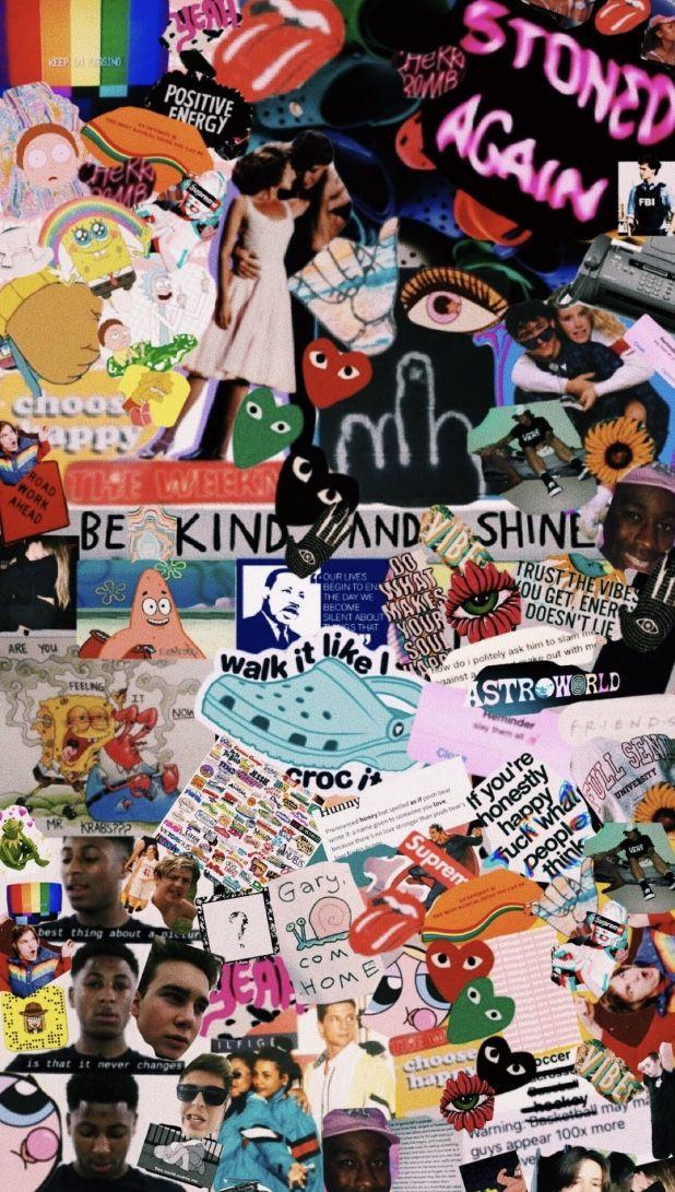 Collage Pin Natalyelise7 Cartoon Wallpaper Iphone Edgy Wallpaper Aesthetic Iphone Wallpaper
