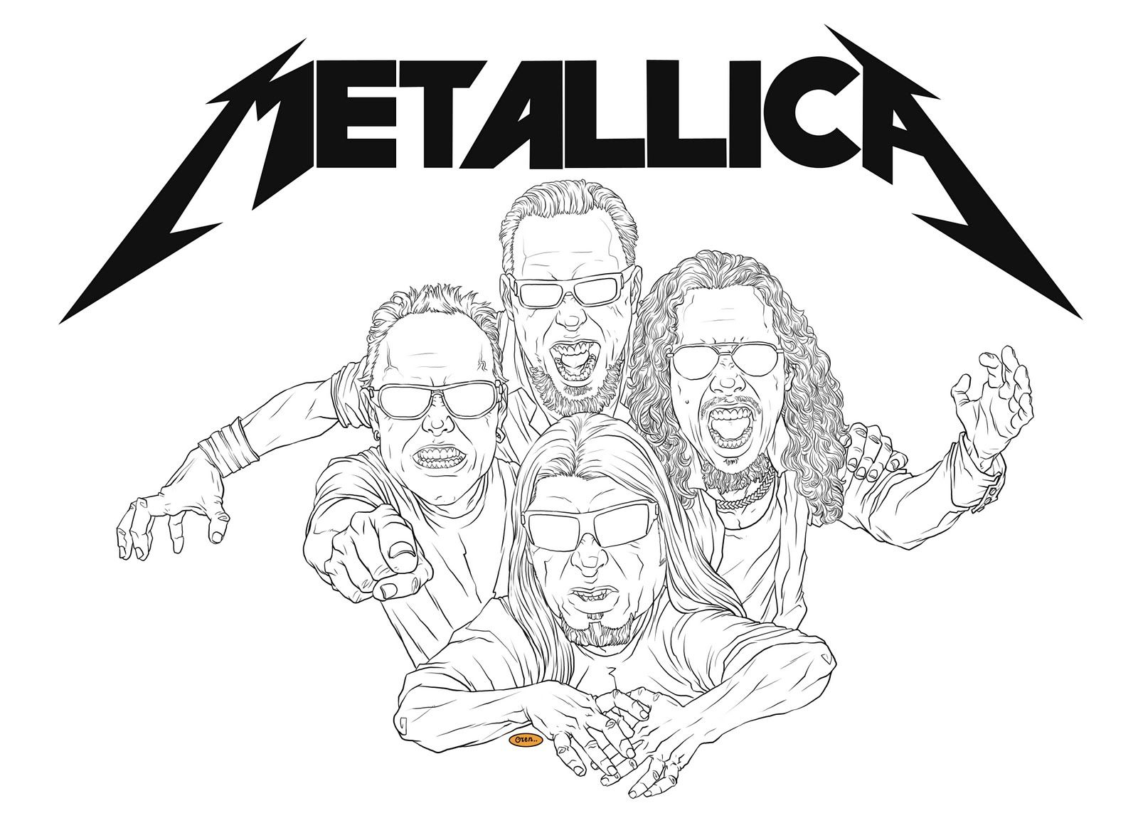 Rock n roll coloring pages - Metallica Coloring Pages Metallica Colouring Pages Page 2