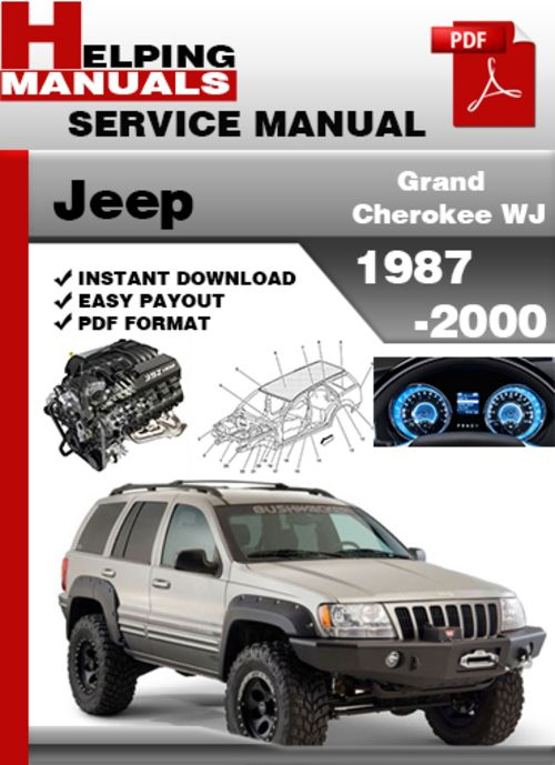 Jeep Grand Cherokee Wj 1987 2000 Service Repair Manual Download D Jeep Jeep Grand Cherokee Jeep Cherokee