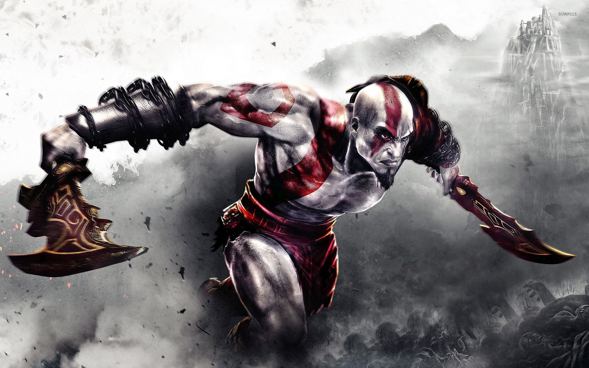 fighting kratos in god of war wallpaper game wallpapers