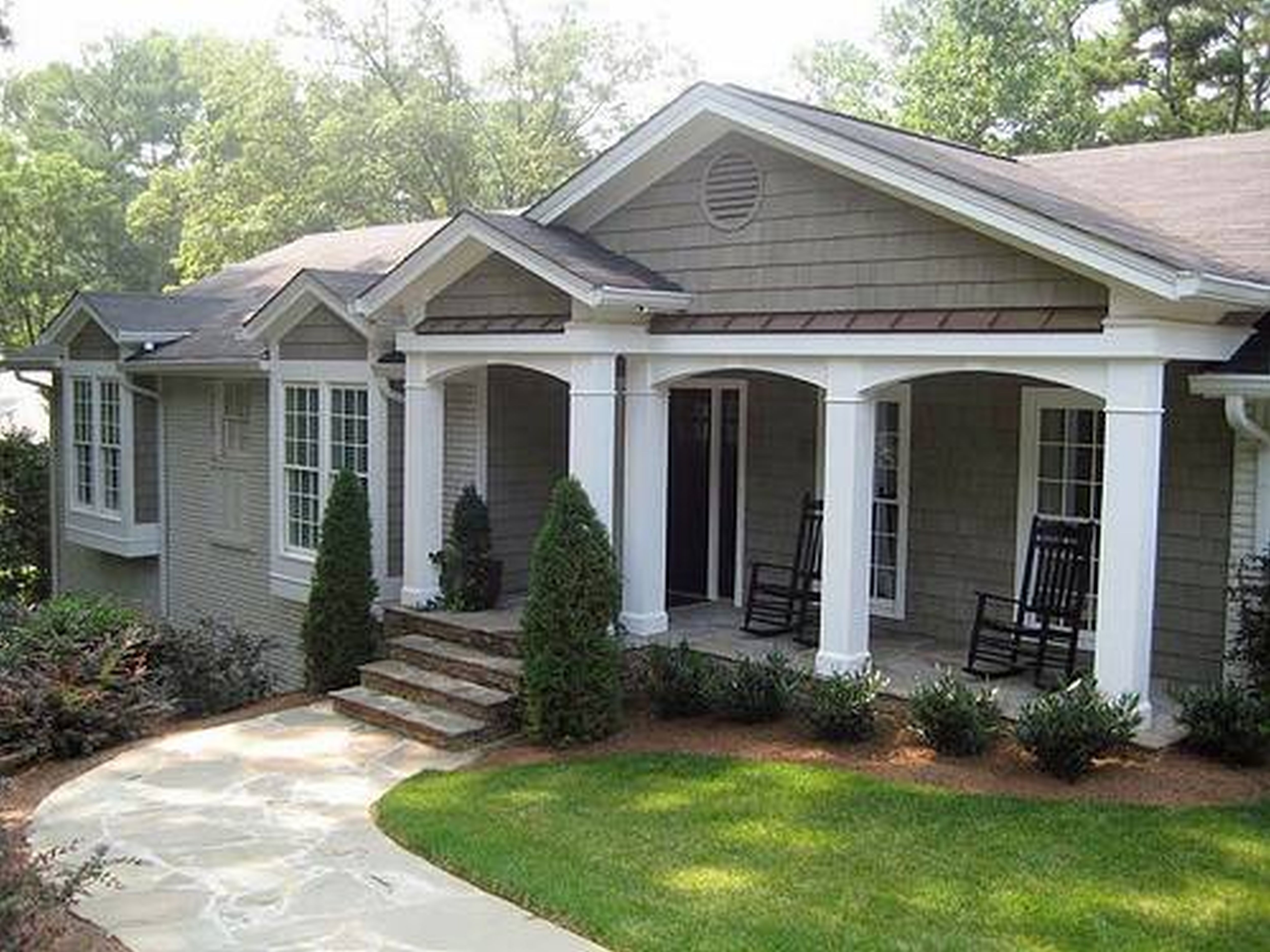 astounding front deck ideas for ranch style homes. Exterior Ranch Home Renovations Gallery  Style Makeover Amazing House Front Porch