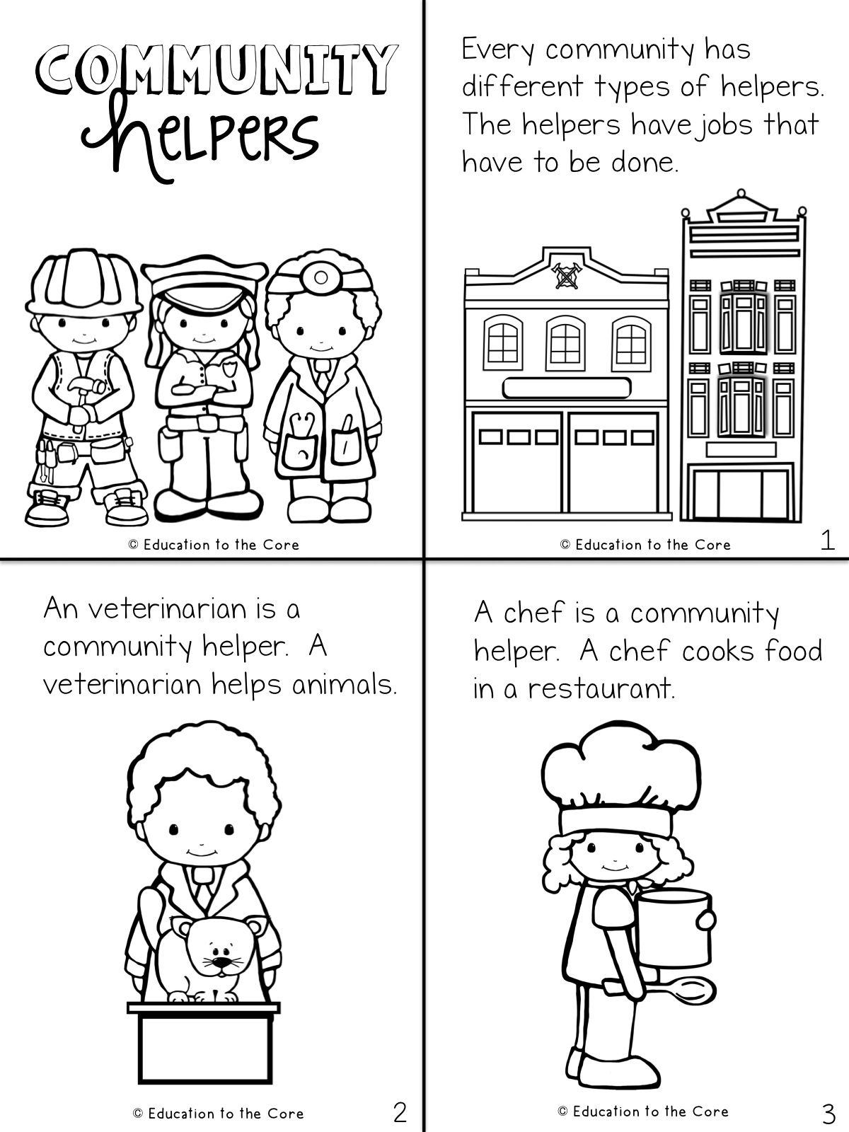 Community Helpers Activities For Kindergarten And First Grade Students Wri Community Helpers Worksheets Community Helpers Kindergarten Kindergarten Worksheets