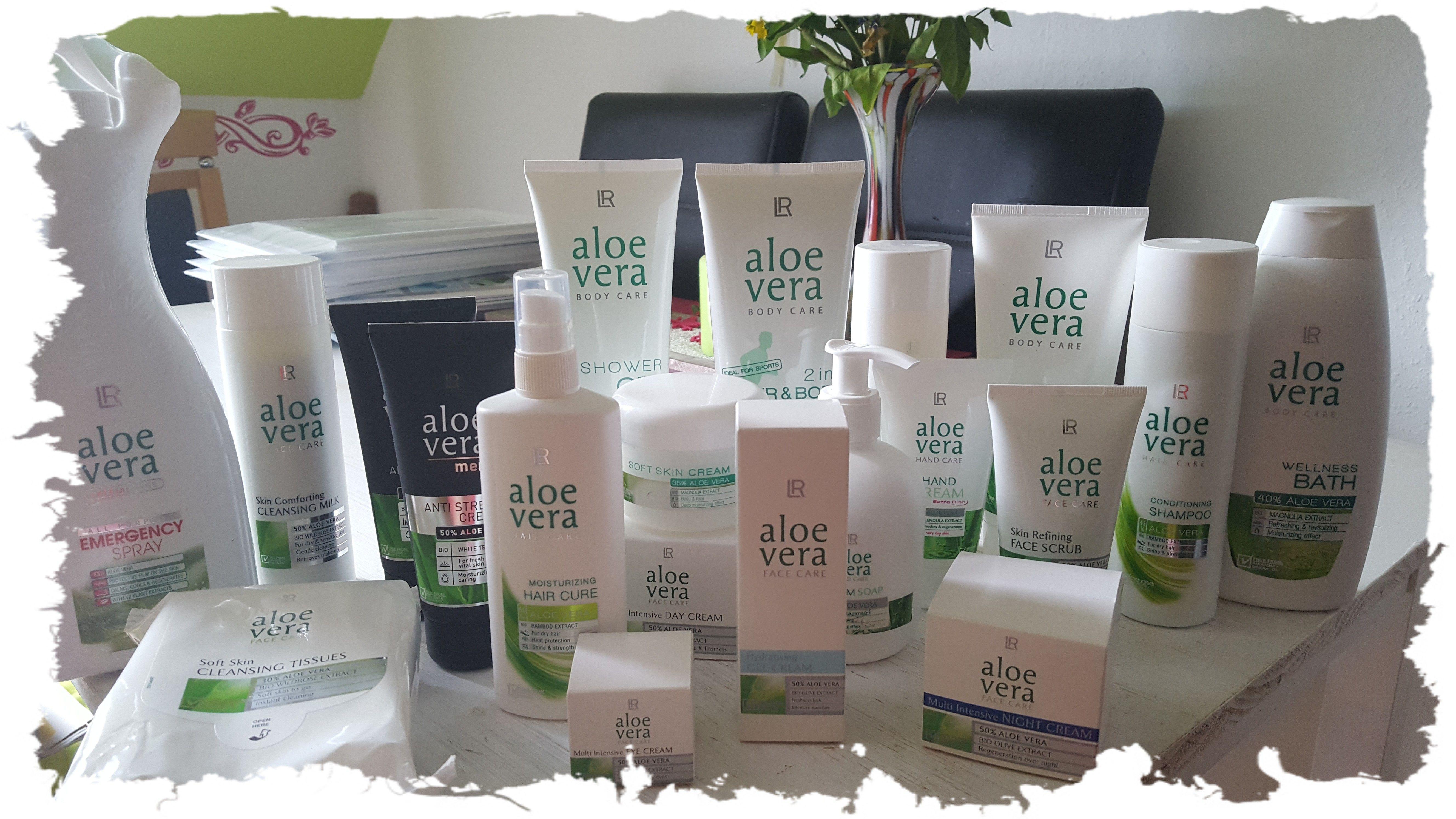 Da ist es - das ultimative Aloe Vera Paket. Von Wellnessbad bis Anti Stress Creme ist alles dabei. Besonders liebe ich ja das Face-Gel...