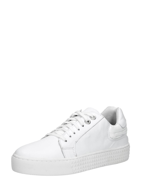 new styles 058a7 d6641 PS Poelman witte dames sneaker met opvallende zool