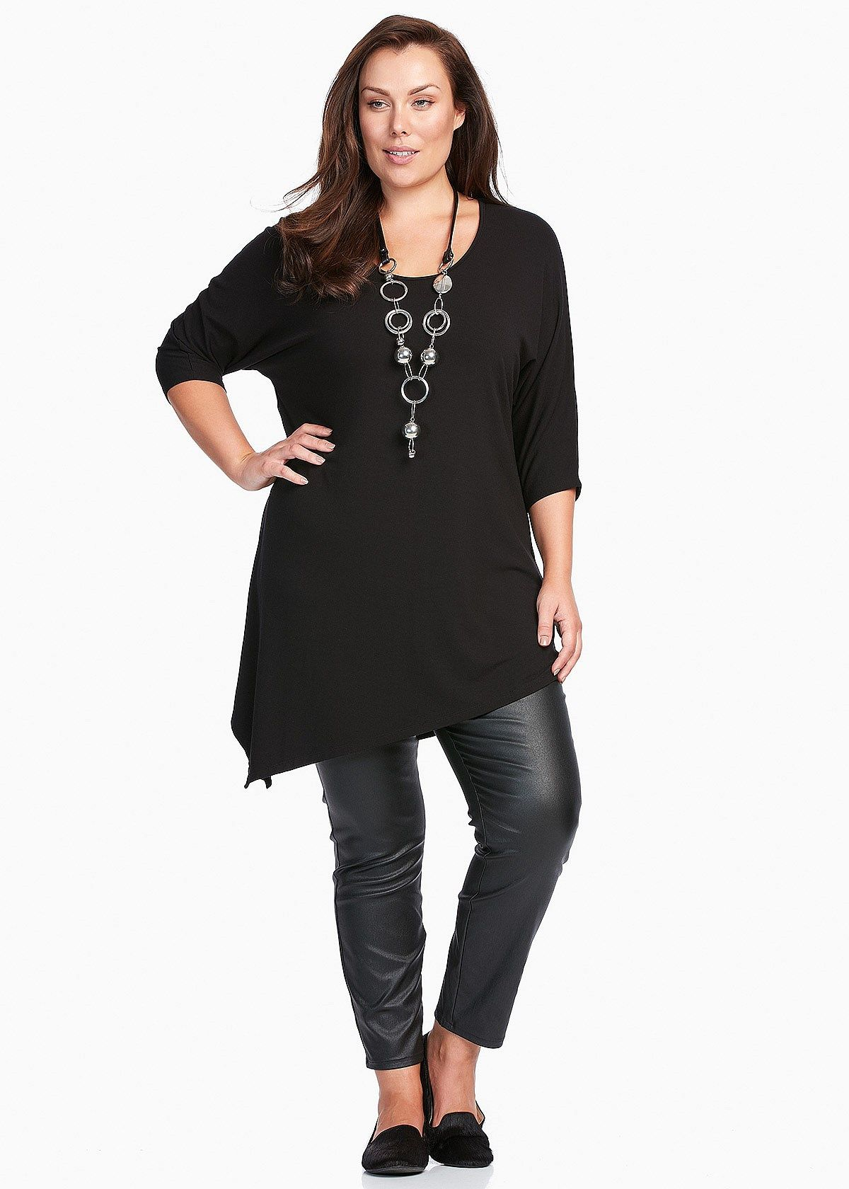 step out in style in the latest plus size women's tunics