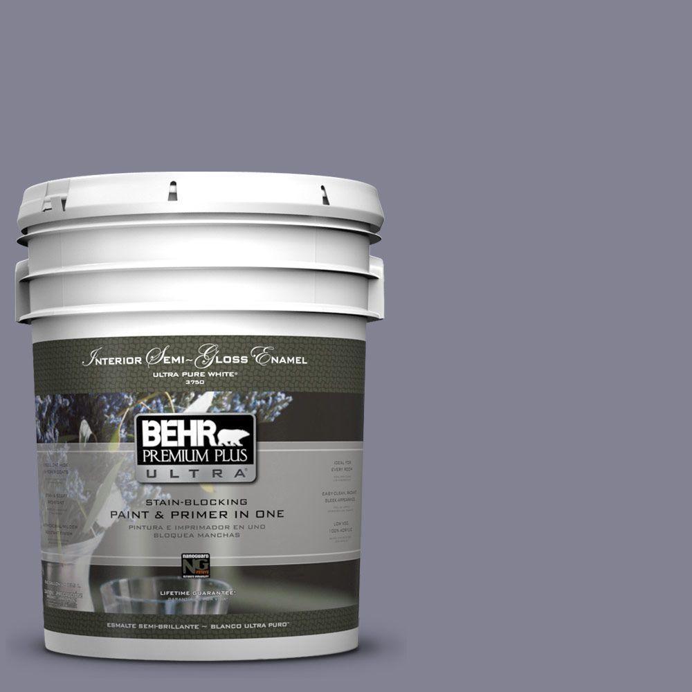 BEHR Premium Plus Ultra 5-gal. #PPU16-16 Metro Semi-Gloss Enamel Interior Paint