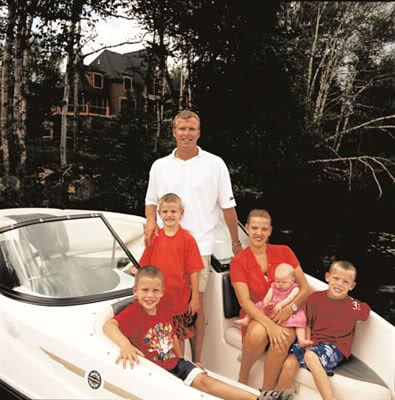 Brodeur With His First Wife Melanie And Their Kids Martin