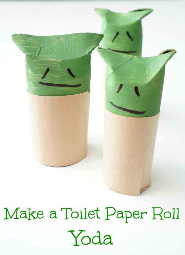 Make A Toilet Paper Roll Yoda Star Wars Crafts Toilet