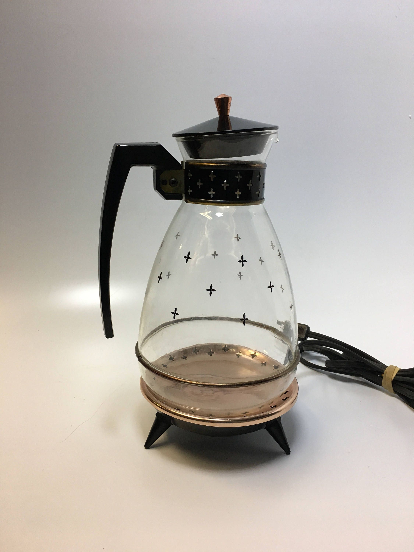 Vintage Silex Glass Coffee Carafe Set Vintage Glass Coffee Carafe Set