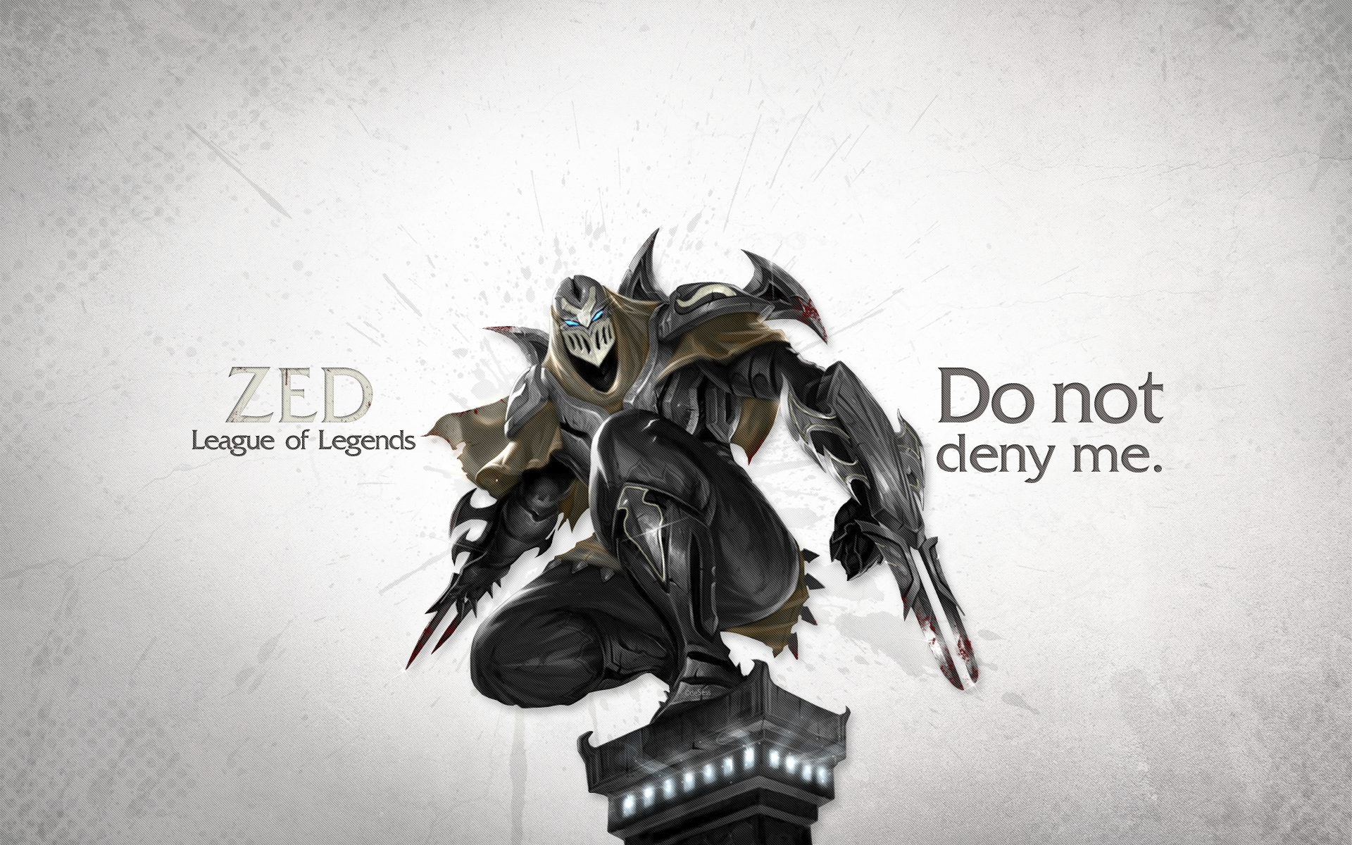 League Of Legends Wallpaper Zed By Desess Deviantart Com On