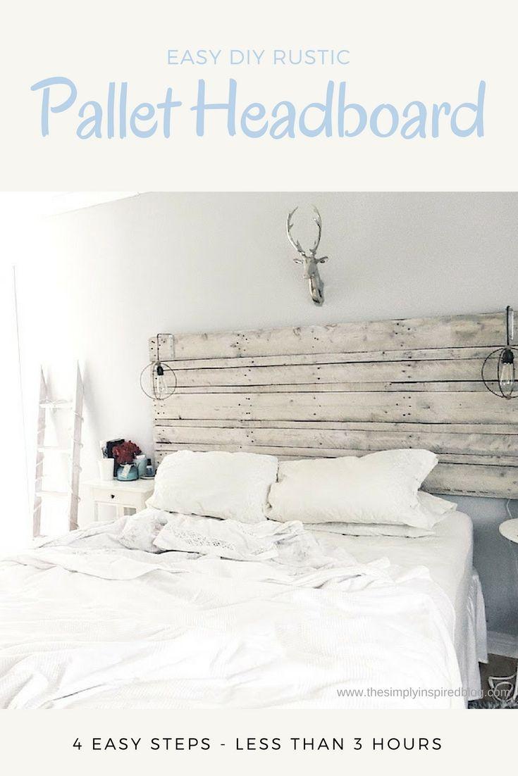 DIY Pallet Headboard Instructions | The Simply Inspired Blog | #diy ...