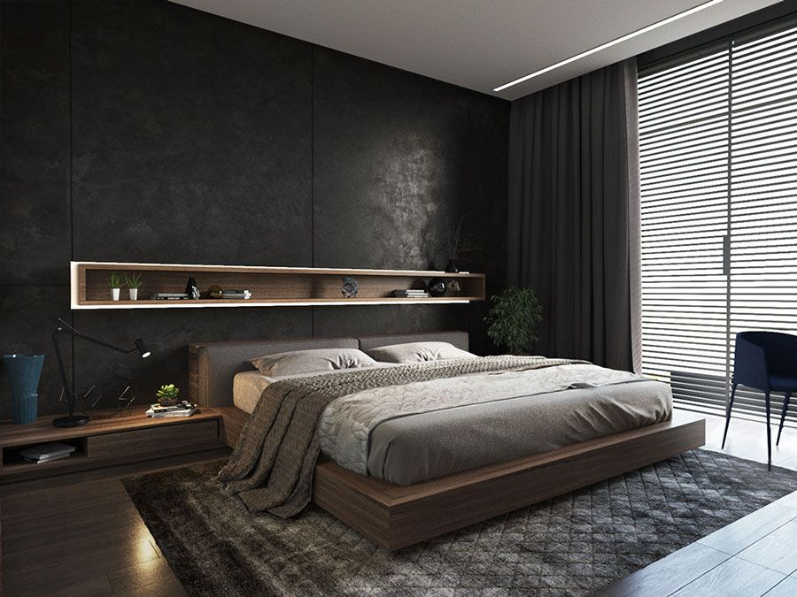 camera da letto nera 20 idee per arredi di design in stile dark camere da letto pinterest. Black Bedroom Furniture Sets. Home Design Ideas