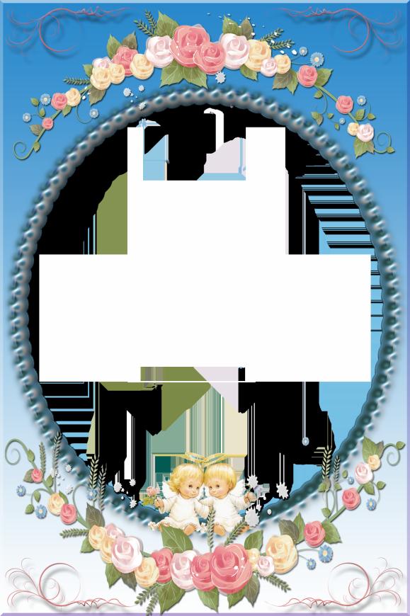 Blue Transparent Frame with Angels   YAZI FONLARI   Pinterest