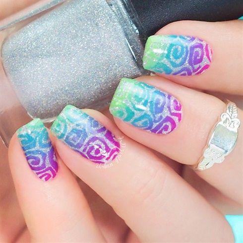 Fun Swirly Design Nail-Art by 'UrbanNailArtAU' on Nail Art Gallery ♥≻★≺♥