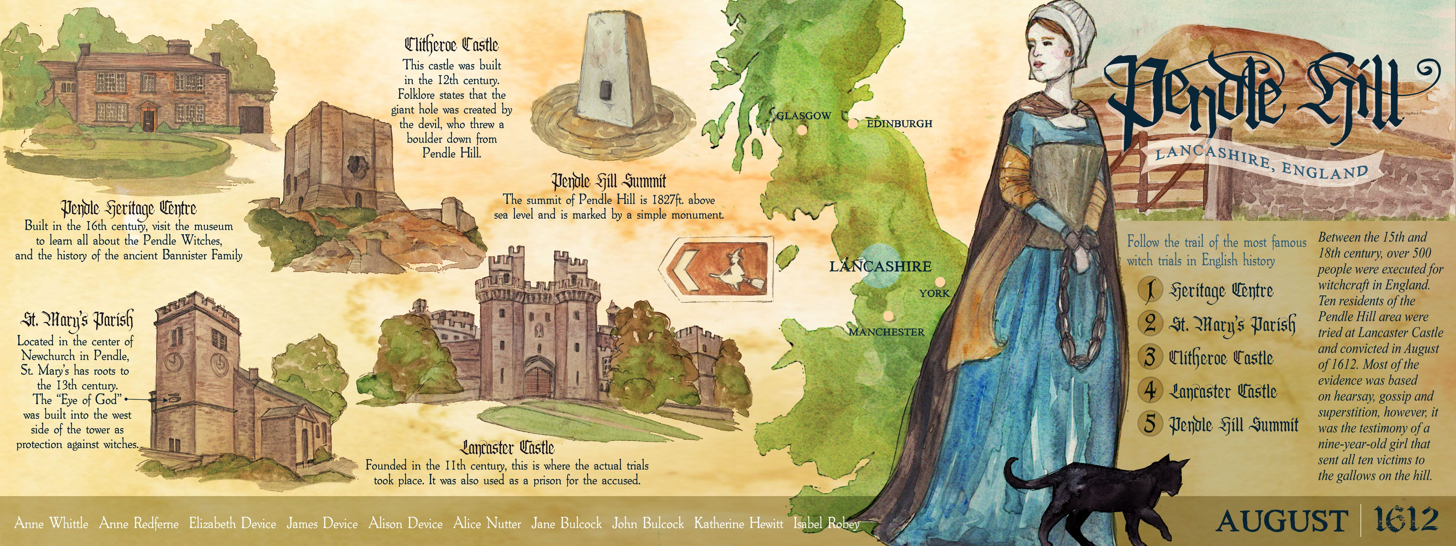 the pendle witch trials of lancashire during the reign of king