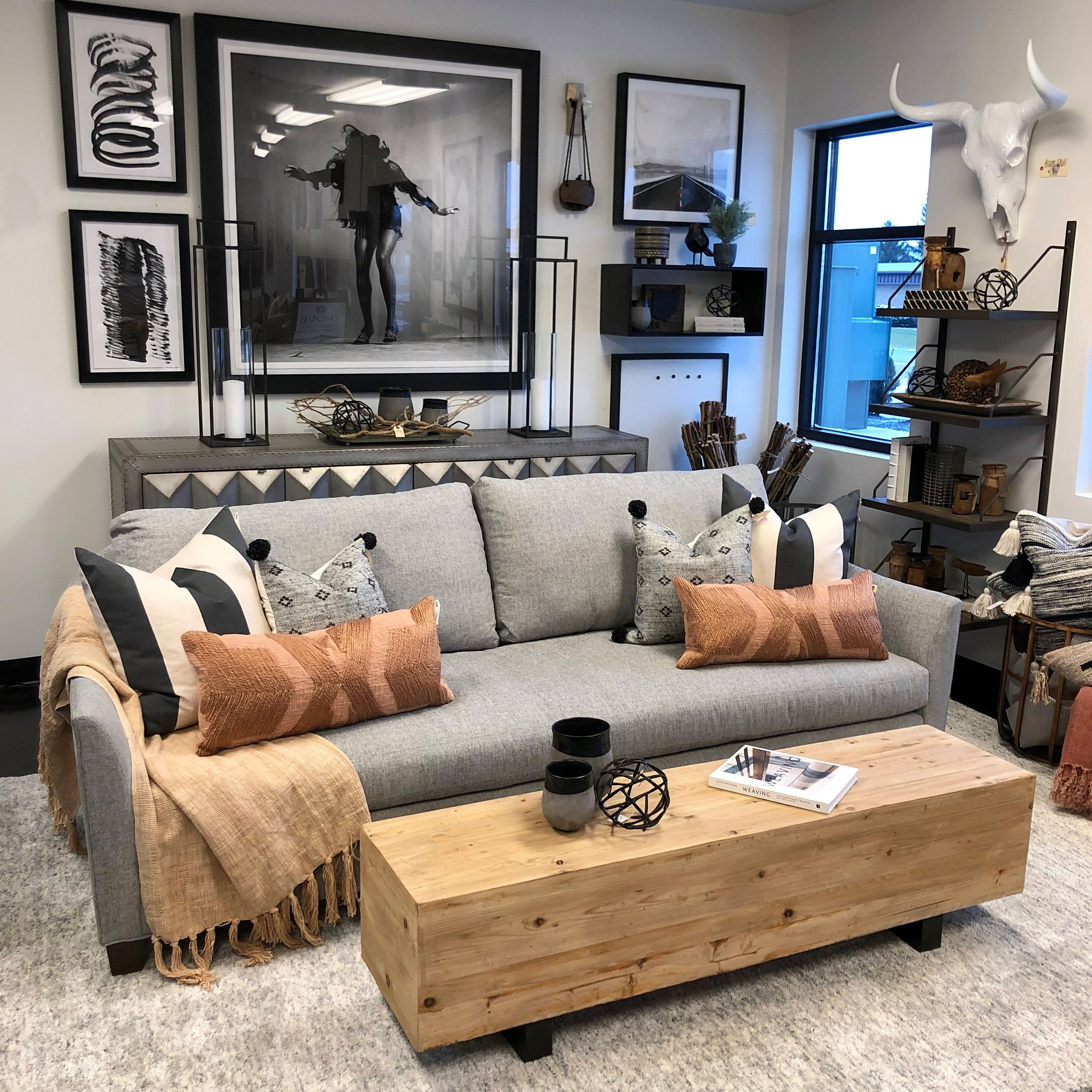 We Gave This Glam Black And White Living Room Setting A Makeover