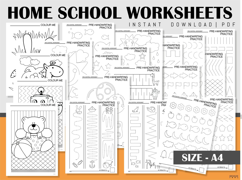Homeschool Printables Handwriting Practice Sheets Coloring