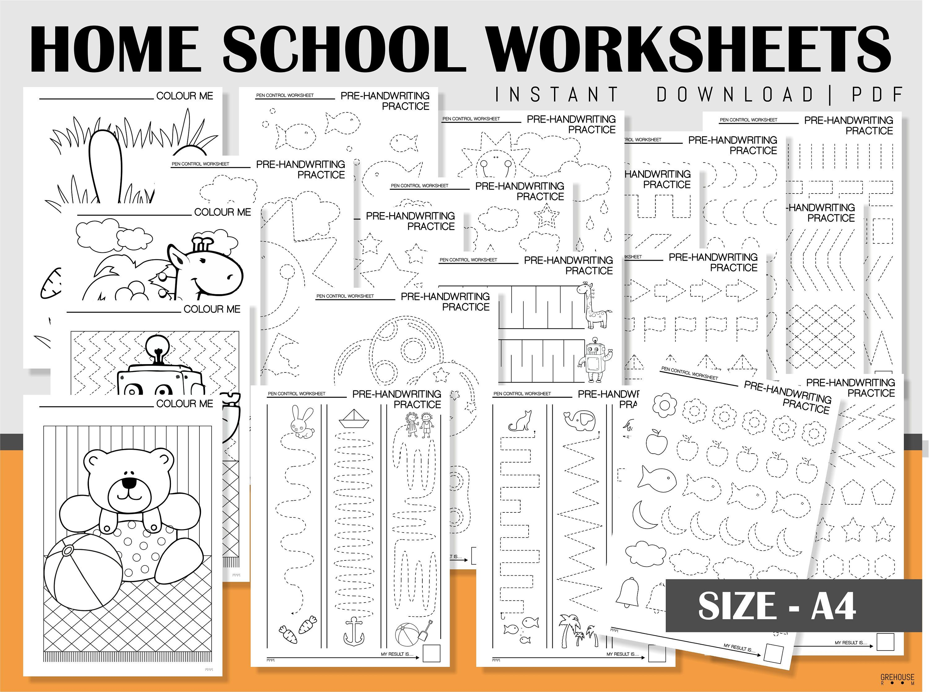 Homeschool Printables Handwriting Practice Sheets Coloring Pages