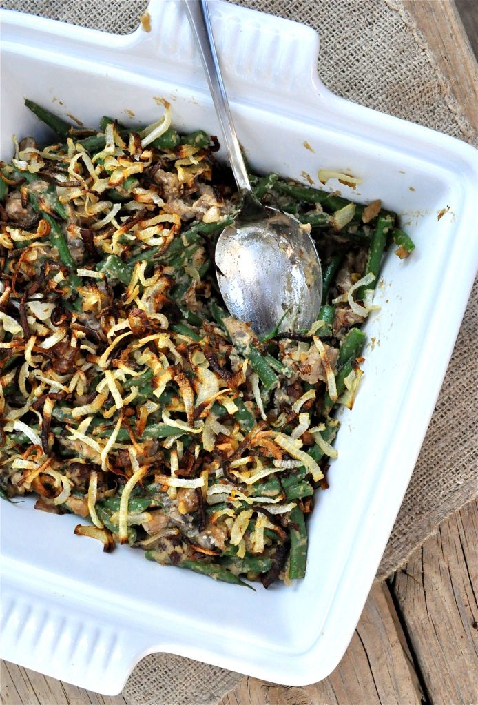 Green bean casserole - paleo, but I'd probably use actual milk instead of almond milk.
