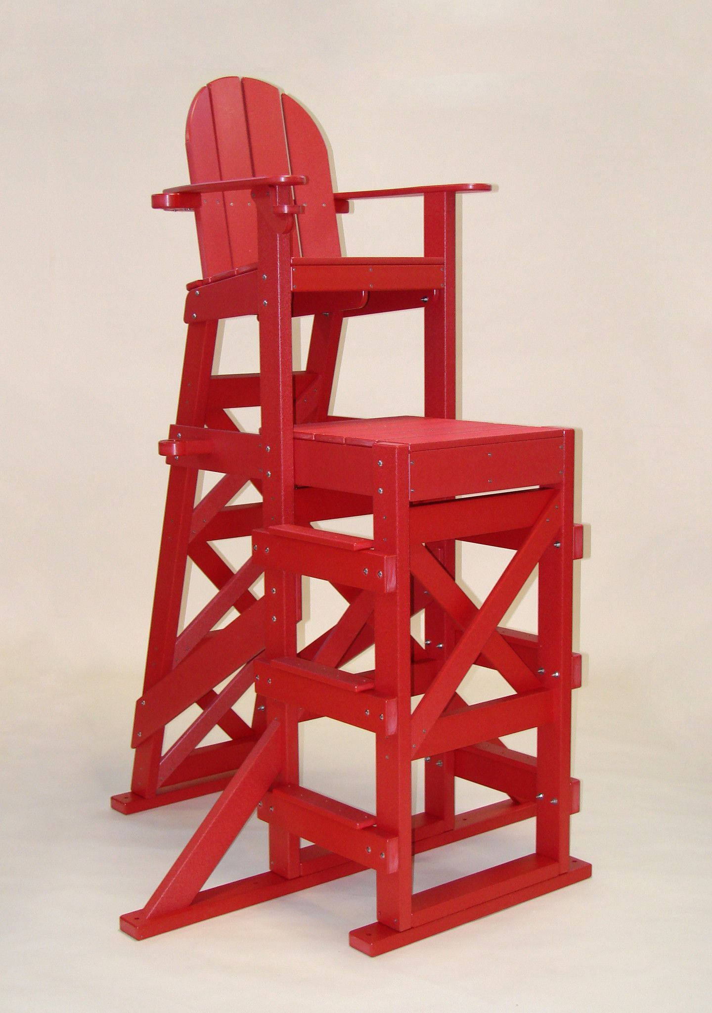 Tailwind Furniture Recycled Plastic TLG530 Tall Lifeguard Chair With Side  Steps
