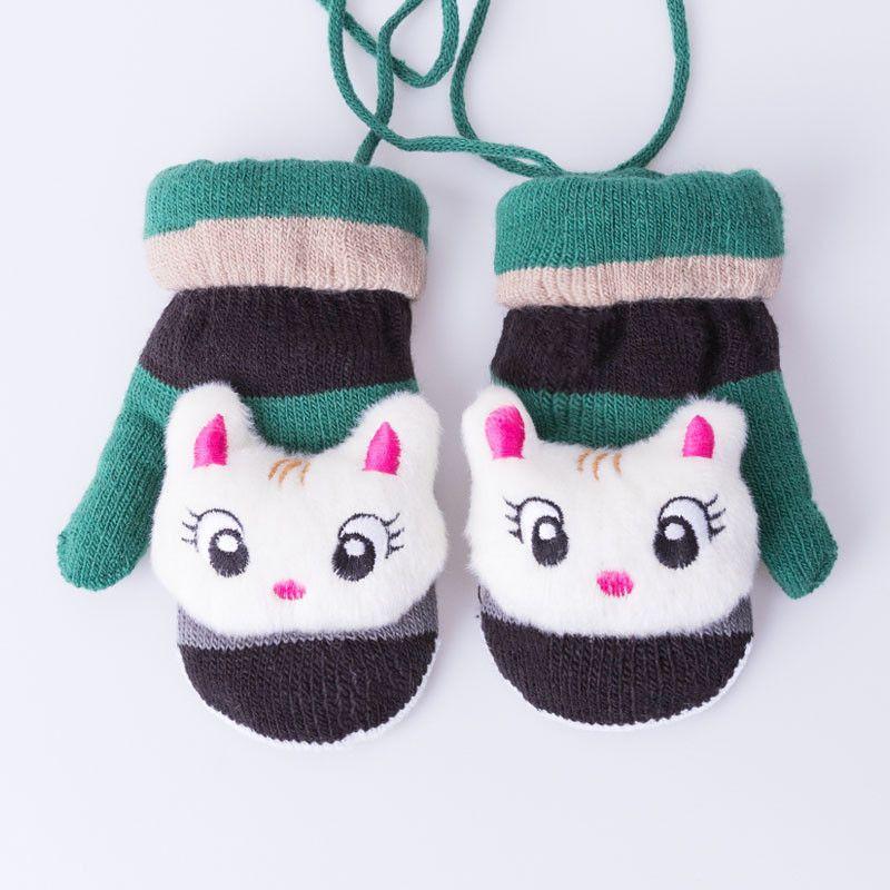 Cartoon New Cute Thicken Warm Winter Gloves For Kid Gloves Children Mittens For Kid Girl Boy Gloves Keep Warm Free Shipping