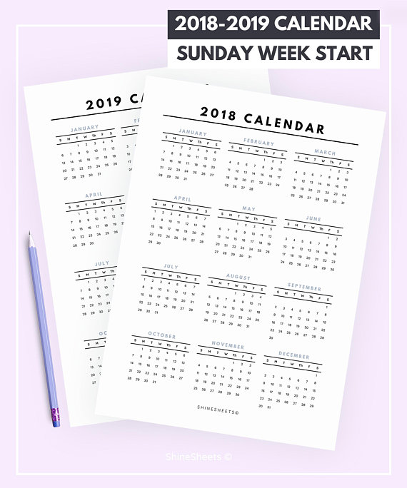 sunday start calendar printable calendar 2018 calendar 2019 calendar yearly calendar calen
