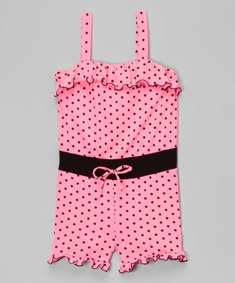 395816642 Love this Leighton Alexander Pink Polka Dot Romper - Infant