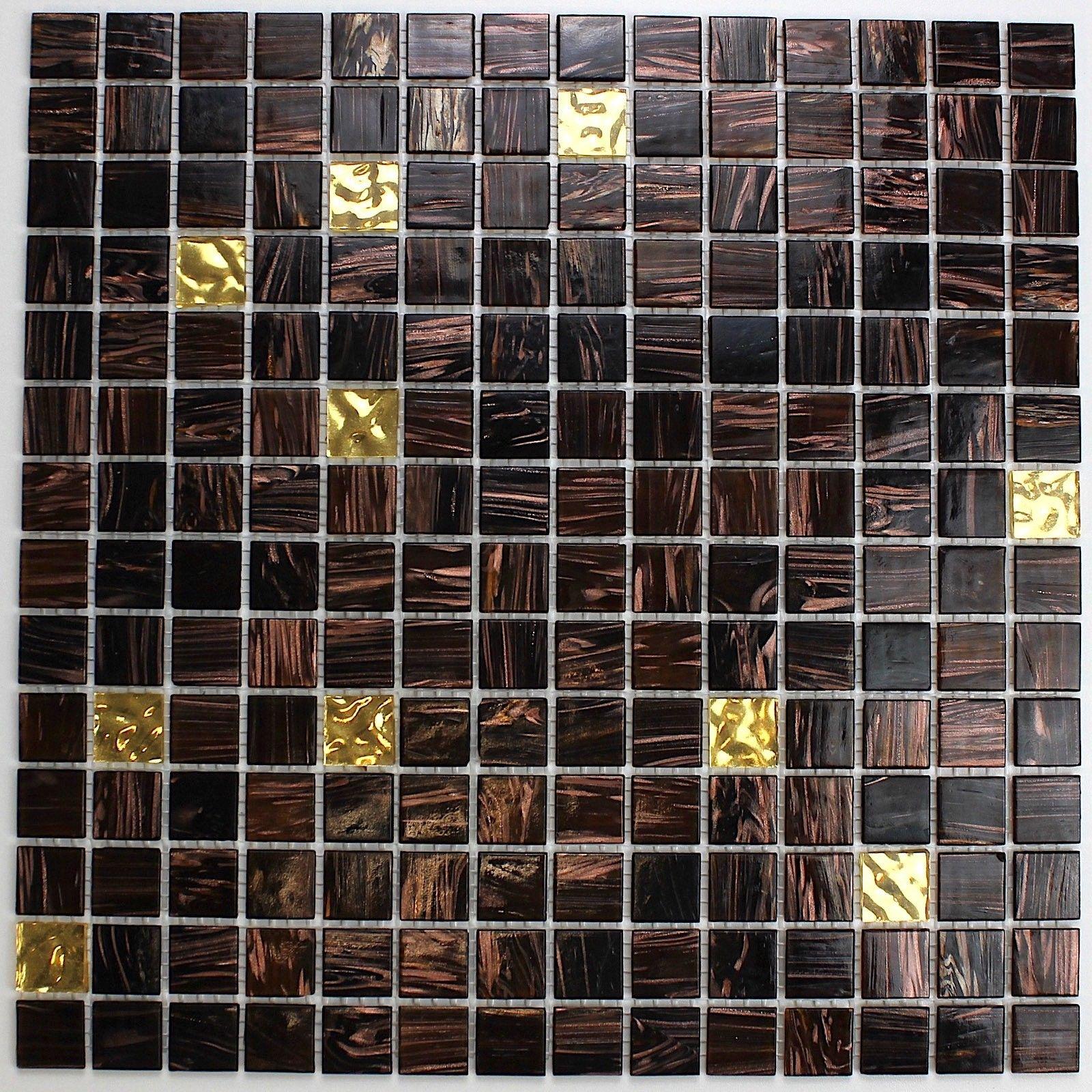 Mosaique Pate De Verre Mur Et Sol Goldline Vog Carrelage Mosaique Carrelage Carrelage Mosaique Carrelage Inox