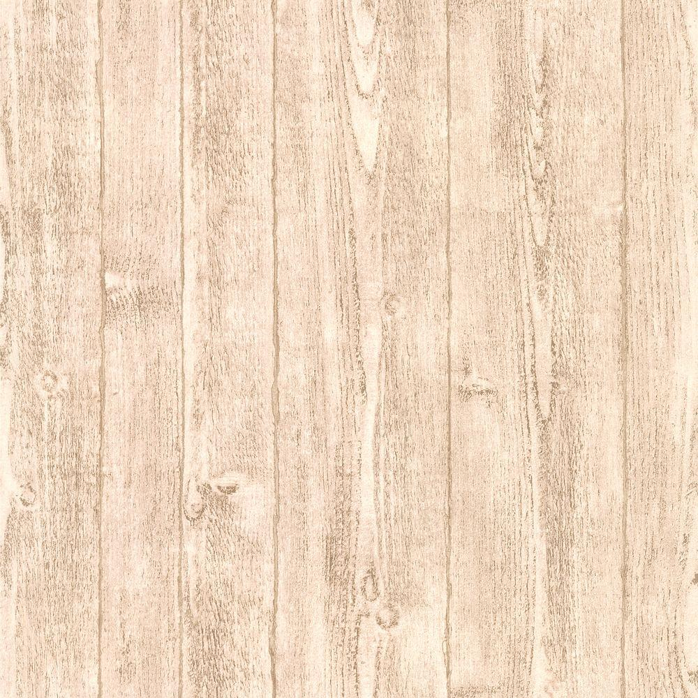 Brewster Wallcovering Orchard Light Grey Wood Panel