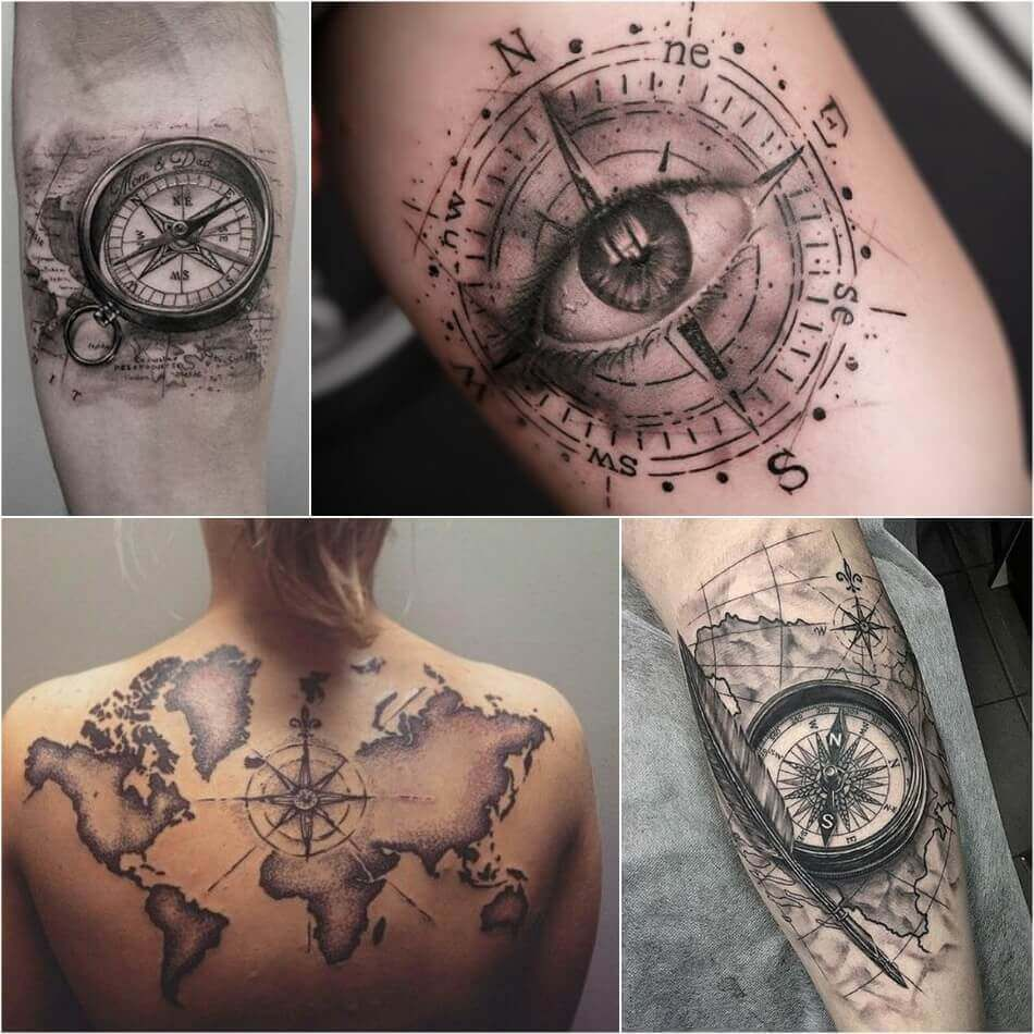 Compass Tattoo Designs Popular Ideas For Compass Tattoos With Meaning Compass Tattoo Design Compass Tattoo Compass Rose Tattoo