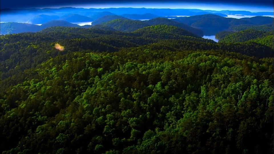 Aerial View of the Kiamichi Mountains-Southeast Oklahoma-The ...