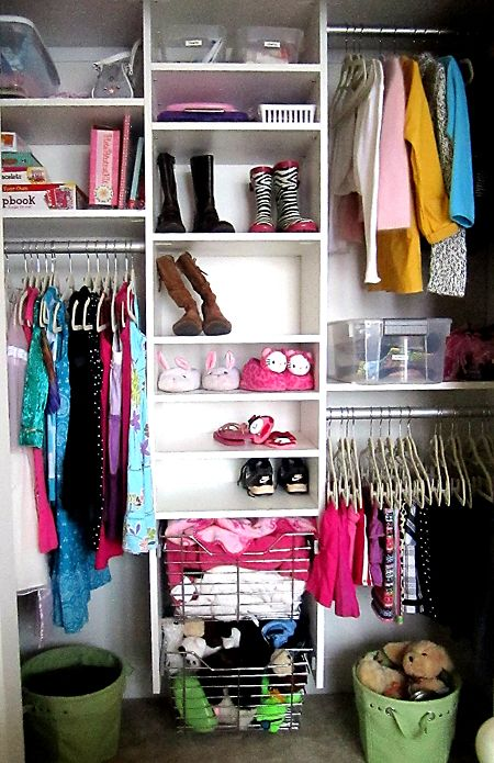 Bedroom Closet Organization; Like Tall Shelves For Boots And Shelves For  Baskets. Wire Baskets. Girls Closet OrganizationHome Organization TipsStorage  ...