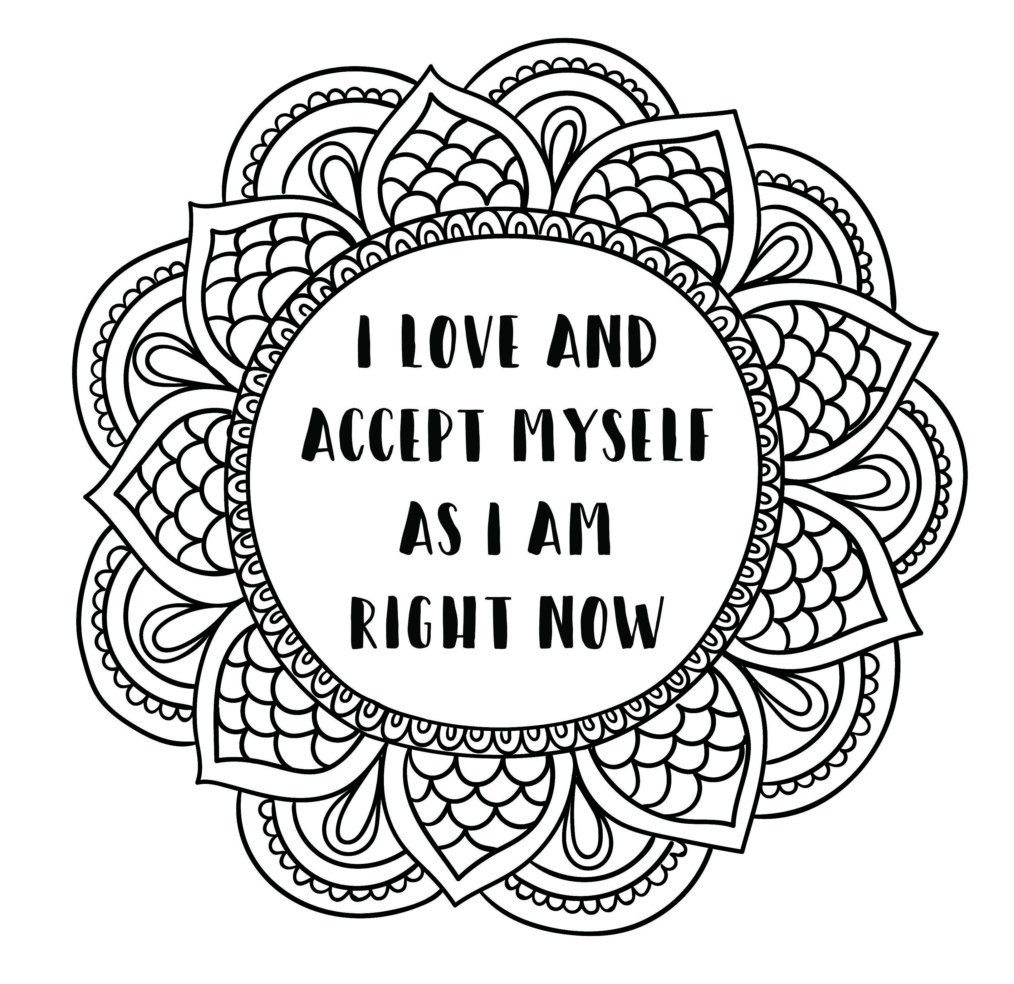 Image Result For Self Love Coloring Sheet