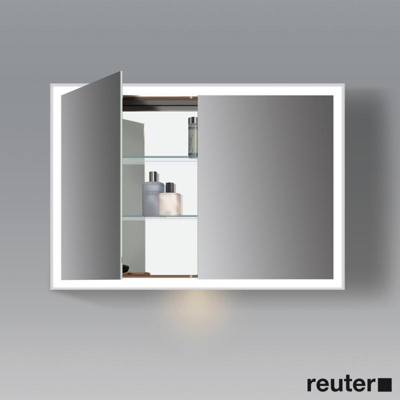Duravit L Cube Mit Dem Duravit Spiegelschrank Mit Led Beleuchtung