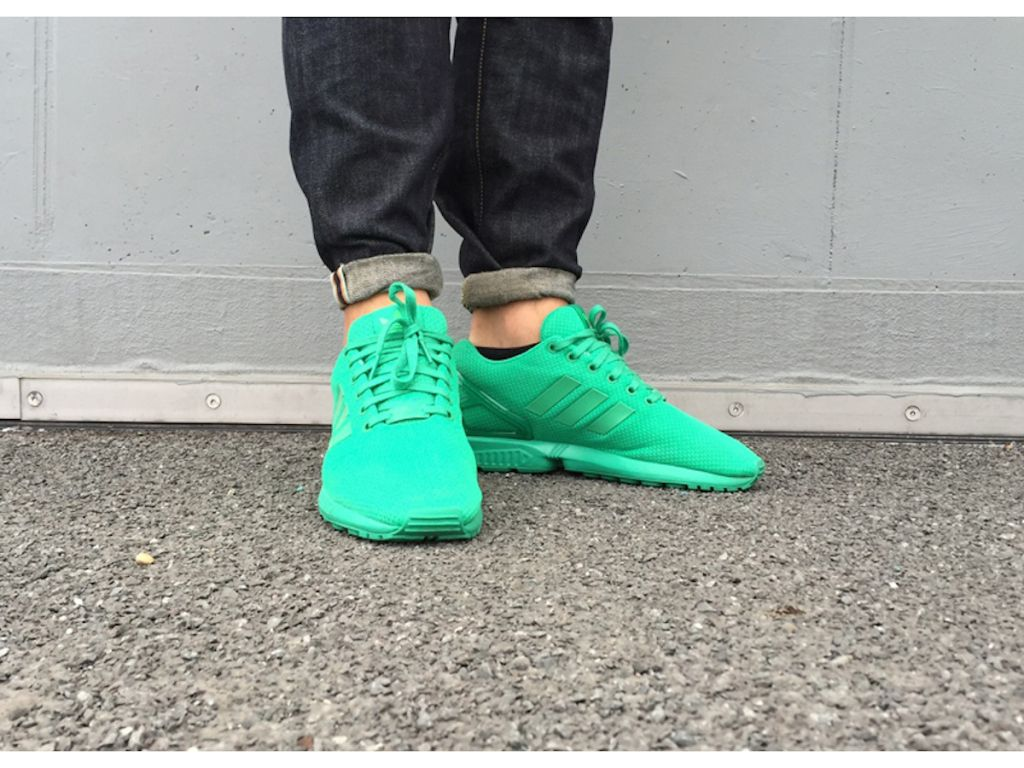 Adidas Zx Flux Blue Green